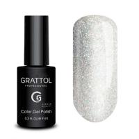 Grattol Color Gel Polish OS Opal Silver, 9 мл.
