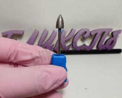 Фреза алмазная конус 6 мм (синяя)