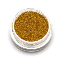 Бульонки супер мелкие - золото- 0,4 мм (3 гр.)