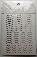 Лента гибкая № 618 лунки (серебро) для дизайна