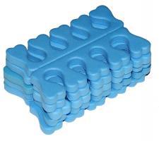 Разделитель пальцев для педикюра (20 пар) - синий