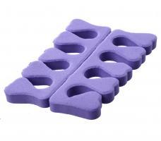 Разделитель пальцев для педикюра (1 пара) - фиолетовый