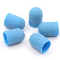 Колпачки для педикюра (пластиковая основа) 13*19мм, 80 грит (5 шт.)