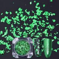 Слюда (хлопья) цветная - зеленая