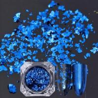 Слюда (хлопья) цветная - синяя