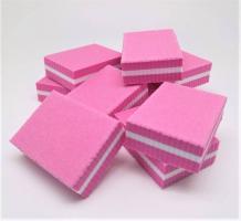 Баф мини 100/180 (10шт) - розовые