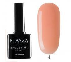 ELPAZA, Builder Gel it's easy №4, Гель двухфазный для моделирования (15 мл)