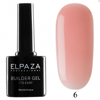 ELPAZA, Builder Gel it's easy №6, Гель двухфазный для моделирования (15 мл)