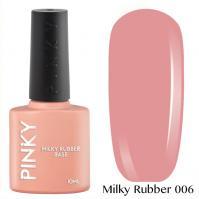 PINKY, Камуфлирующая база Milky Rubber Base № 06 (10 мл)