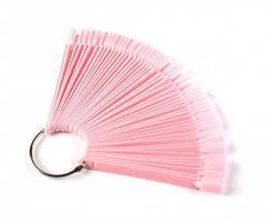 Палитра веер 50 шт. розовая
