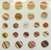 Стикер для ногтей жидкий камень 07