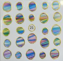 Стикер для ногтей жидкий камень 21