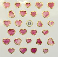 Стикер для ногтей жидкий камень 35