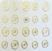 Стикер для ногтей жидкий камень 45