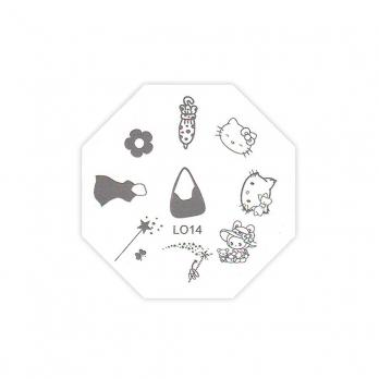 Трафарет металлический для стемпинга LO-14